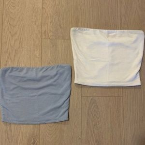 Wilfred Tube Tops, Medium, white and light blue